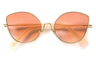 Kaleos Eyehunters - Stone Sunglasses Gold with Orange Lenses