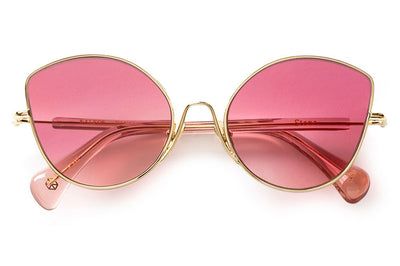 Kaleos Eyehunters - Stone Sunglasses Gold with Pink Lenses