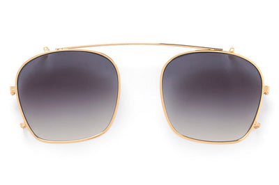 Kaleos Eyehunters - Taylor Sun-Clips Gold with Grey Gradient Lenses