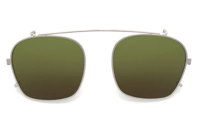 Kaleos Eyehunters - Taylor Sun-Clips Silver with Green Lenses