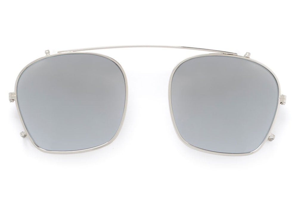 f3db4c85854 Kaleos Eyehunters - Taylor Sun-Clips Silver with Silver Mirror Lenses