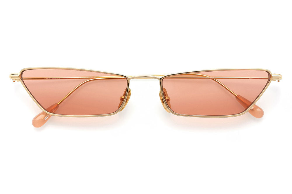 Kaleos Eyehunters - Vale Eyeglasses Gold with Pink Lenses