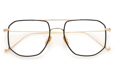 Kaleos Eyehunters - Willard Eyeglasses Gold/Black