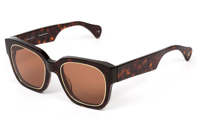 Kaleos Eyehunters - Wilson Sunglasses Tortoise with Brown Lenses