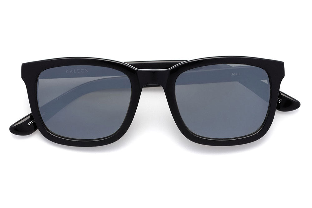 Kaleos Eyehunters - Udall Sunglasses Black with Grey Matte Mirror Lenses
