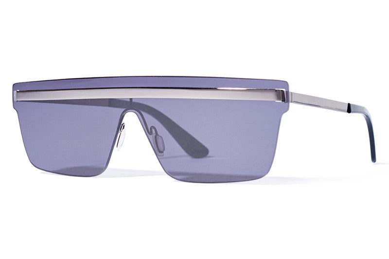 Bob Sdrunk Sunglasses -  Martin Silver with Blue Mirror Lenses