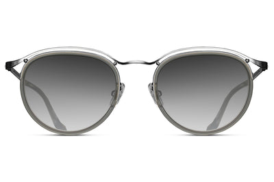 Matsuda - M3093 Sunglasses Brushed Silver/Matte Grey Crystal