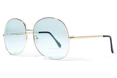 Bob Sdrunk Sunglasses - Milly Gold with Blue Lenses