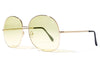 Bob Sdrunk Sunglasses - Milly Gold with Yellow Lenses