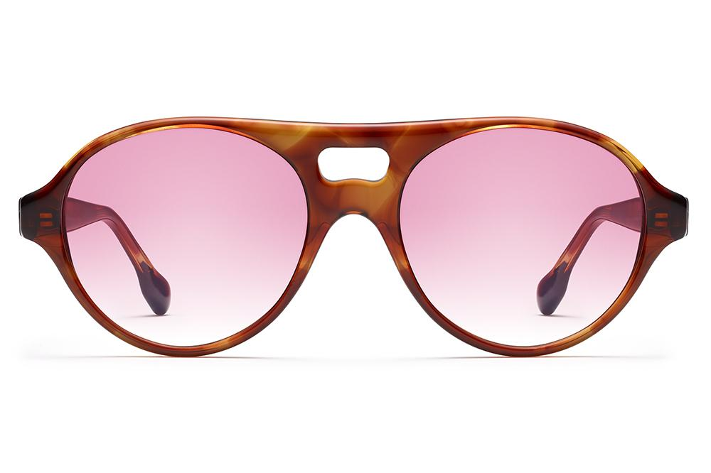 Morgenthal Frederics x Monse - Jenna Sunglasses Crystal Tortoise with Rose Wash Lenses