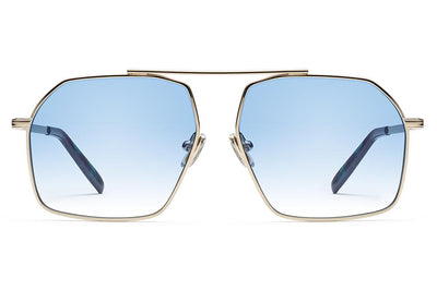 Morgenthal Frederics x Monse - Linda Sunglasses Yellow Gold with Sky Wash Lenses