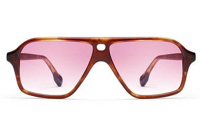Morgenthal Frederics x Monse - Traci Sunglasses Crystal Tortoise with Rose Wash Lenses
