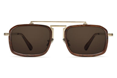 Gold/Burlwood with Brown Solid Lenses