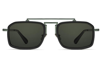 Green/Matte Black with Grey Solid Lenses