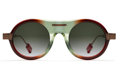 Morgenthal Frederics x Rosie Assoulin - Herbie Sunglasses Strawberry Lime with G15 Gradient Lenses