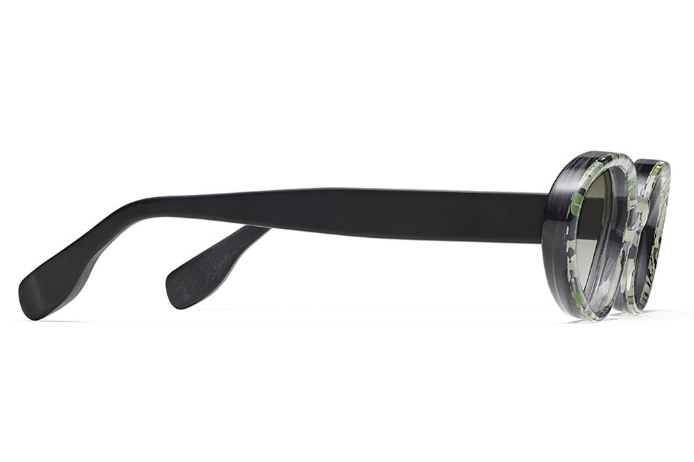 20ec4247b0 Morgenthal Frederics x Rosie Assoulin - Jawbreaker Sunglasses Green  Flake Black Matte with G15 Gradient