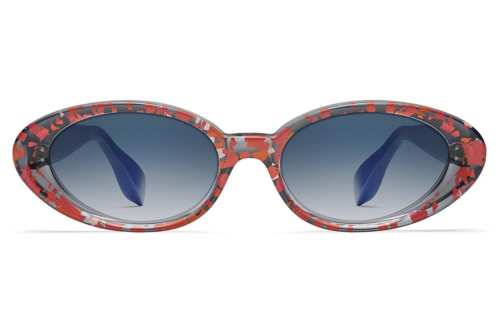 db136df453 Morgenthal Frederics x Rosie Assoulin - Jawbreaker Sunglasses Red  Smoke Electric Blue with Blue Gradient