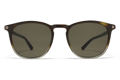 MYKITA Sunglasses -  Aluki Santiago Gradient/Shiny Graphite with Raw Green Solid Lenses