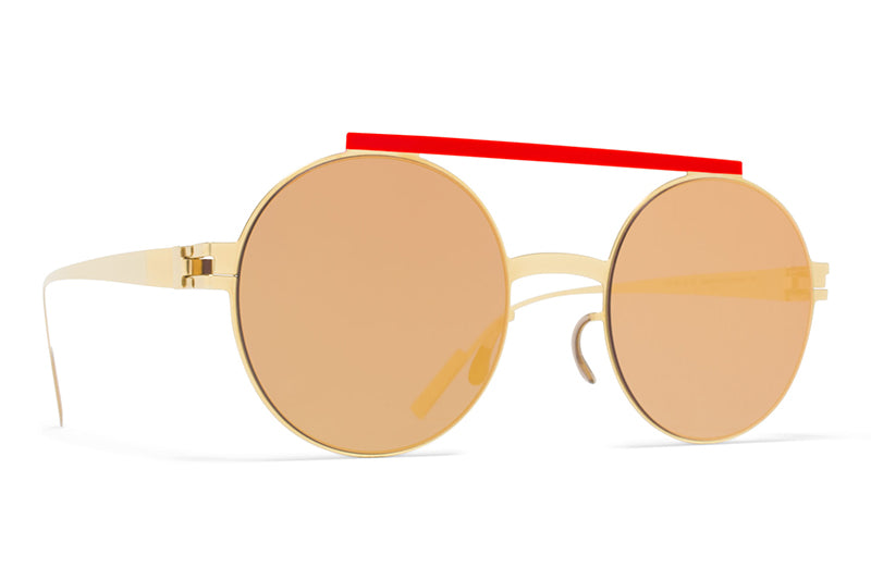 4293a48274e MYKITA + AMBUSH - Verbal Sunglasses Gold Red with Reverse Gold Lenses