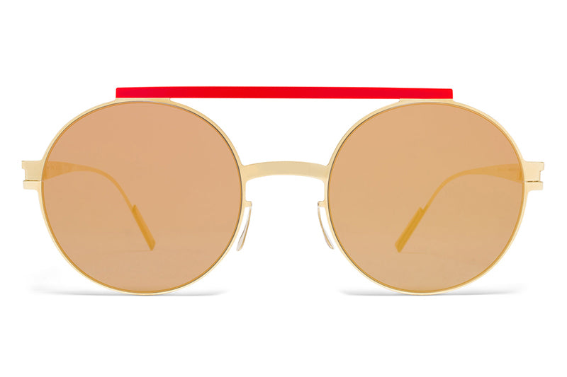 MYKITA + AMBUSH - Verbal Sunglasses Gold/Red with Reverse Gold Lenses