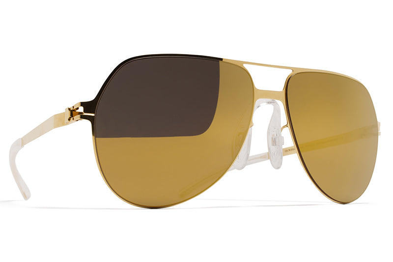 MYKITA & Bernhard Willhelm  - Beppo Sunglasses F9 Gold with Gold Flash Lenses