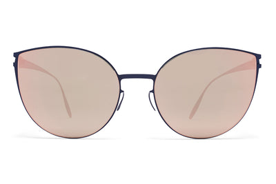 MYKITA & Bernhard Willhelm  - Beverly F65 Navy Blue with Rose Gold Flash Lenses