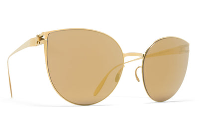MYKITA & Bernhard Willhelm  - Beverly F9 Gold with Gold Flash Lenses