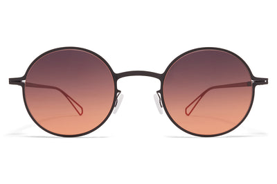 MYKITA & Bernhard Willhelm  - Brenda Sunglasses Black with Black/Orange Gradient Lenses