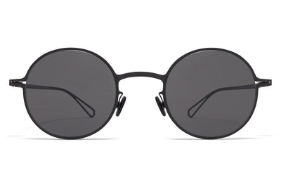 MYKITA & Bernhard Willhelm  - Brenda Sunglasses Black with Dark Grey Solid Lenses