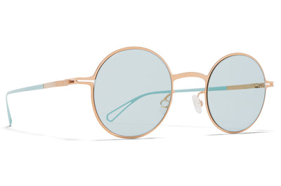 MYKITA & Bernhard Willhelm  - Brenda Sunglasses Champagne Gold with Soft Green Solid Lenses