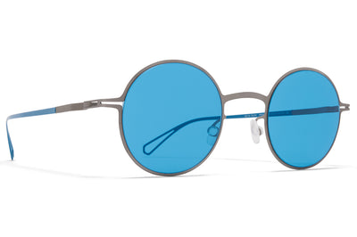 MYKITA & Bernhard Willhelm  - Brenda Sunglasses Grey with Turquoise Solid Lenses