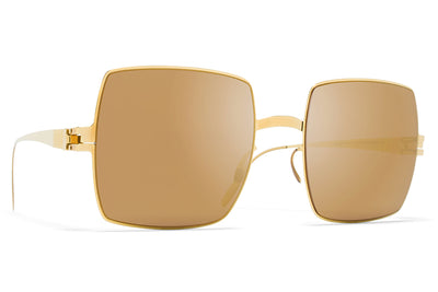 MYKITA & Bernhard Willhelm  - Dusty F9 Gold with Gold Flash Lenses