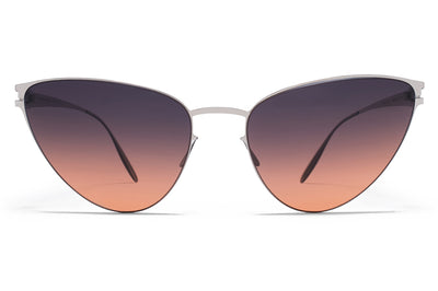 MYKITA & Bernhard Willhelm - Eartha Sunglasses F10 Silver with Black/Orange Gradient Lenses