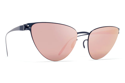 MYKITA & Bernhard Willhelm  - Eartha F65 Navy Blue with Rose Gold Flash Lenses