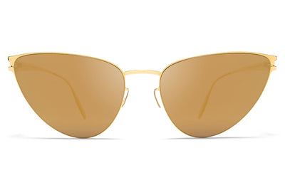 MYKITA & Bernhard Willhelm  - Eartha F9 Gold with Gold Flash Lenses