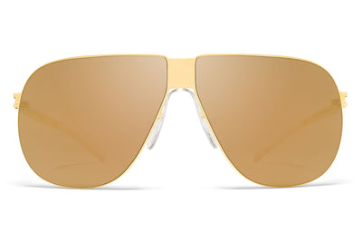 MYKITA & Bernhard Willhelm - Ferdl Sunglasses F9 Gold with Gold Flash Lenses