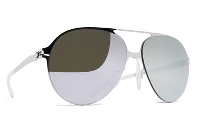 MYKITA & Bernhard Willhelm - Hansi Sunglasses F10 Silver with Silver Flash Lenses