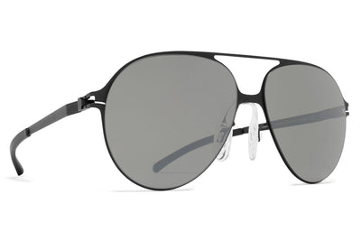 MYKITA & Bernhard Willhelm - Hansi Sunglasses F25 Matte Black with Mirror Black Lenses