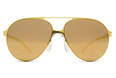 MYKITA & Bernhard Willhelm - Hansi Sunglasses F9 Gold with Gold Flash Lenses