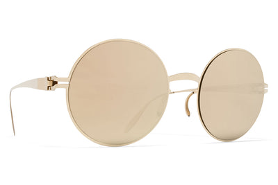 MYKITA & Bernhard Willhelm - Janis Sunglasses F69 Champagne Gold with Champagne Gold Lenses