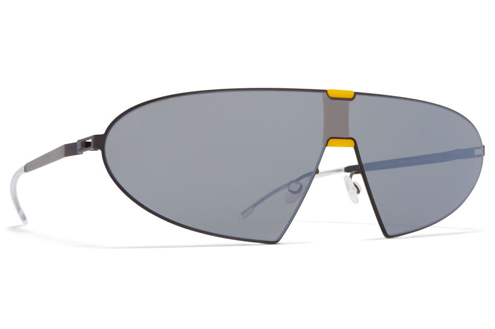 MYKITA & Bernhard Willhelm - Karma Sunglasses MH40 - Black/Yellow with Silver Shield