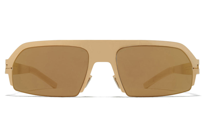 MYKITA & Bernhard Willhelm - Lost Sunglasses Glossy Gold/Chantilly White with Gold Flash Lenses