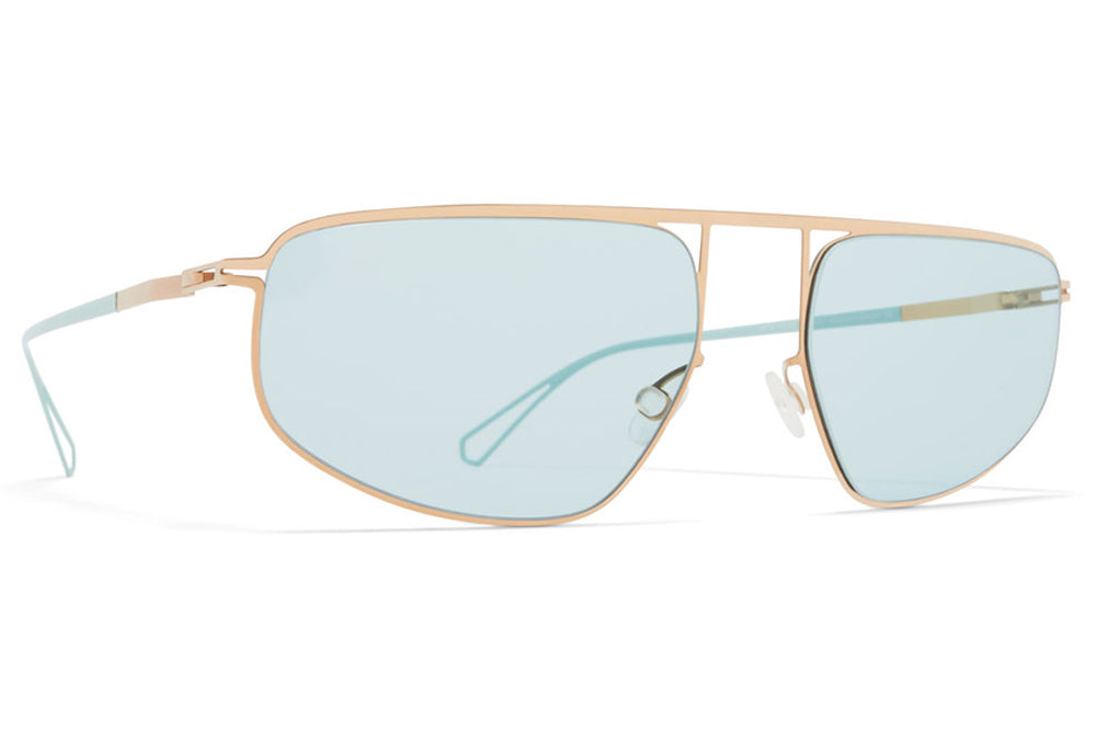 MYKITA & Bernhard Willhelm - Nat Sunglasses Champagne Gold/POW9 with Jade Green Lenses