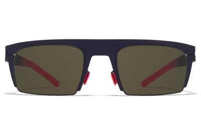 MYKITA & Bernhard Willhelm - New Sunglasses Mulberry/Neon Fuchia with Raw Green Lenses