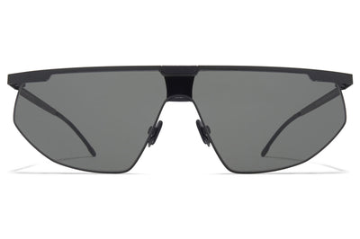 MYKITA & Bernhard Willhelm - Paris Sunglasses MH1 - Black/Pitch Black with Dark Grey Solid Shield
