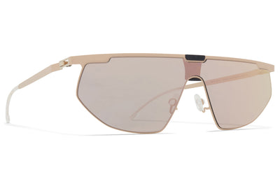 MYKITA & Bernhard Willhelm - Paris Sunglasses MH47 - Safrane/Pitch Black with Champagne Gold Shield