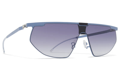 MYKITA & Bernhard Willhelm - Paris Sunglasses MH48 - Blue Grey/Pitch Black with Dark Blue Gradient Shield
