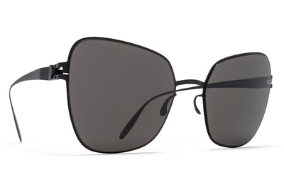 MYKITA & Bernhard Willhelm - Peggy Sunglasses F25 Matte Black with Dark Grey Solid Lenses