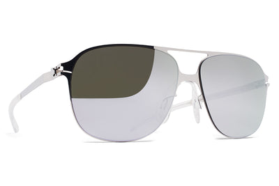 MYKITA & Bernhard Willhelm - Schorsch Sunglasses F10 Silver with Silver Flash Lenses