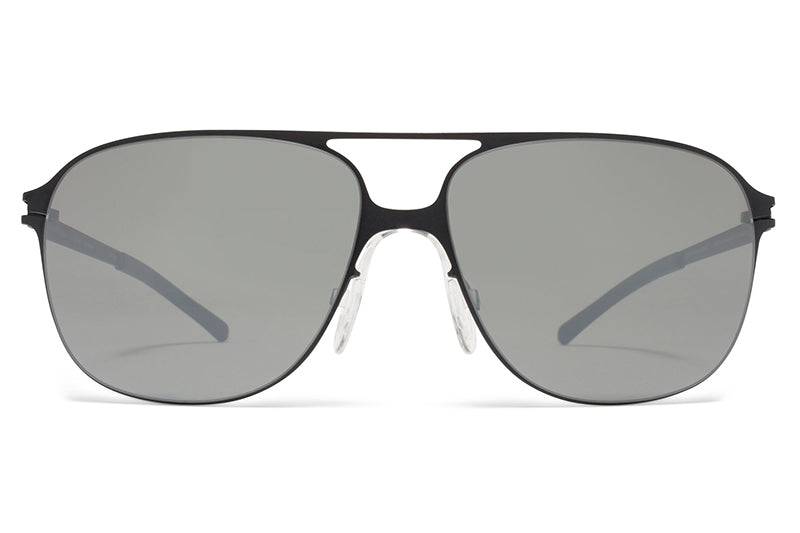 7a052608c8 MYKITA   Bernhard Willhelm - Schorsch Sunglasses F25 Matte Black with  Mirror Black Lenses